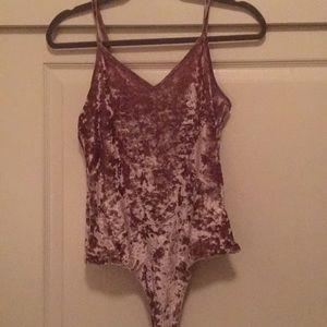 Pink/Purple Velvet Bodysuit